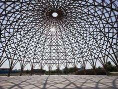 """Soaring domes built with bamboo, the new """"green steel"""", in Vietnam. Image © Vo Trong Nghia Architects"""