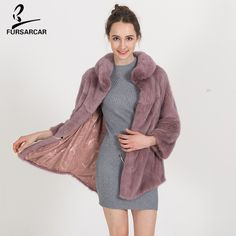 >> Click to Buy << FURSARCAR Winter Warm Natural Fur Coat Women High Quality Mink Fur Jacket Overcoat Fashion Designer Mink Coats Female BF-C0487 #Affiliate