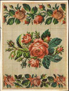 Berlin WoolWork Rose Posy & Border Patterns
