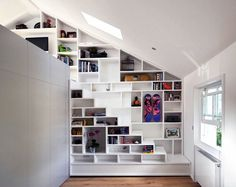 dead space #shelving ideas | @meccinteriors | design bites | #storagewall #stairs