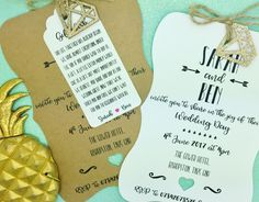 Vintage Shabby Chic Personalised Wedding Invite Day/ Evening