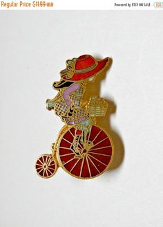 Vintage little girl on old-fashioned bike by PlasticPinkFlamingos