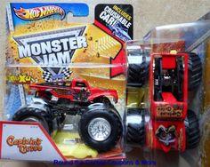 2013 Captain's Curse Hot Wheels Monster Jam Truck 1/64 K Case with YELLOW CAR #HotWheels #MONSTERJAM