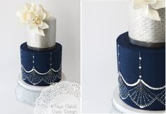 Navy Wedding Cakes - Vintage & Comtemporary - Cake Geek Magazine