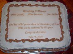 Deacon Ordination cake