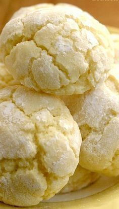 Lemon Burst Cookie from scratch crinkled cookies packed with citrus flavor! Made 100% from scratch!