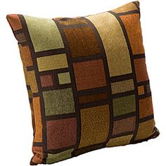 "Soho Contemporary Square Accent Pillow.    Dimensions: 16"" x 16""    This pillow will work with our beige/sage living room color scheme."