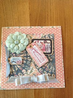 Card using Edwardian Lady paper and card.