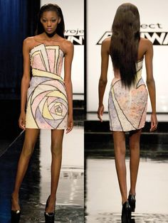 """Dress by Ven Budhu, made of """"materials"""" from """"Dylan's Candy Bar ~ Project Runway Recap: How Sweet It (Mostly) Was -- The Cut"""