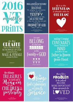 Visiting Teaching Quote Series: Relief Society Printables, VT #mycomputerismycanvas