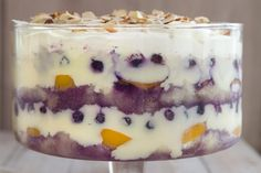 Blueberries and Cream Trifle recipe by Annabel Langbein