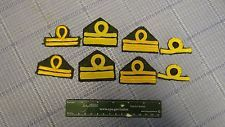 Lot of 8 Genuine Italian WWII Era officer shoulder rank insignia patches