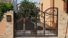 Material Iron steel gate, metal gate, gate for house, house gate designs