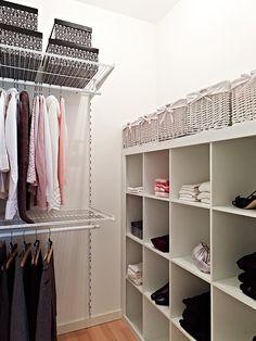 expedit in master closet..ikea