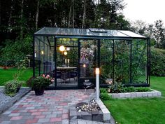 Most Creative Gardening Design Ideas - New ideas Backyard Greenhouse, Greenhouse Plans, Backyard Patio, Backyard Landscaping, Norfolk Country Cottages, Greenhouse Interiors, Garden Cottage, Garden Planning, Garden Inspiration