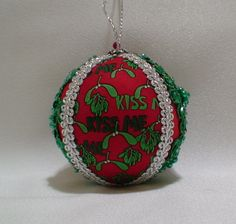 Kissing Ball 1 by ShabbyChicXmas on Etsy