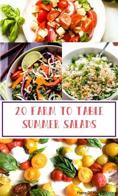 Summertime is right around the corner which means delicious fresh salads straight from the farm. You're sure to find a delicious farm to table summer salads on this list of 20 delicious and easy ideas!