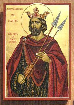 Άγιος Edmund ο μάρτυρας___nov 20    ( Icon of Saint Edmund King of East Anglia and Martyr painted by Marchela Dimitrova