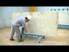 DOUBLE SIDE SLAB BUGGY AUSAVINA for Granite Stone, construction, glass, ...