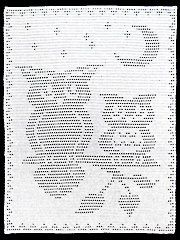 I think its gonna cute for baby blanket -- Crochet Afghan Patterns - Moonlight Owls Filet Afghan Mais Filet Crochet Charts, Crochet Cross, Knitting Charts, Crochet Home, Thread Crochet, Afghan Crochet Patterns, Crochet Motif, Crochet Doilies, Crochet Curtains