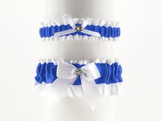 Hey, I found this really awesome Etsy listing at https://www.etsy.com/il-en/listing/240263838/set-bridal-garter-white-and-blue-satin