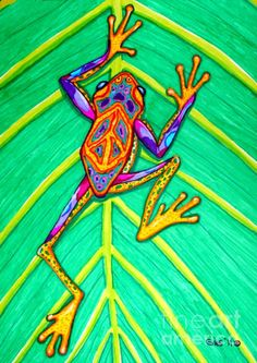 Shop for frog art from the world's greatest living artists. All frog art ships within 48 hours and includes a money-back guarantee. Choose your favorite frog art designs and purchase them as wall art, home decor, phone cases, tote bags, and more! Frog Drawing, Drawing Tips, Decoupage, Frog Art, Pastel, Frog And Toad, Hippie Art, Art Programs, Psychedelic Art