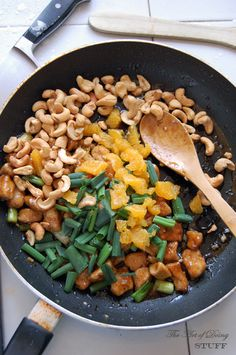 Cashew chicken - looks easy. But at the very least, read the intro to the recipe. It's hilarious.