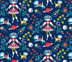 !!!!!!!  ---  Far Away Folk fabric by cerigwen on Spoonflower - custom fabric