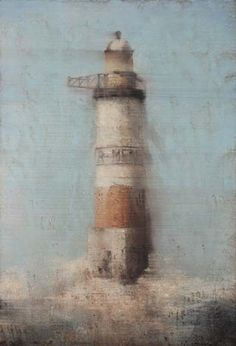 Yves Crenn, Armen II, Pastel on Paper. #art #watercolor #lighthouse #axelle