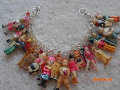 THE GANG'S all HERE celluloid charm Bracelet by BeadEeye on Etsy