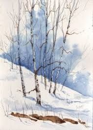 Resultado de imagem para watercolor winter