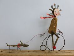 ...art from found objects and junk. How cute is this?!