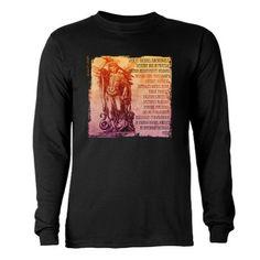 St. Michael Prayer in Latin Long Sleeve Dark T-Shirt