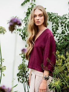 burda deep v neck top (could make this from navigator top pattern?)