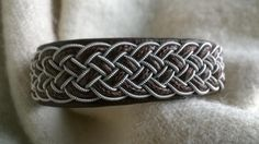 Twinned pewter thread bracelet