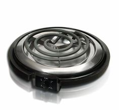Elite Cuisine ESB300X MaxiMatic 750 Watt Single Burner Electric Hot Plate Black >>> You can get additional details at
