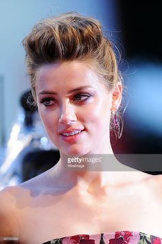 Amber Heard attends a premiere for 'A Danish Girl' during the 72nd Venice Film Festival at  on September 5, 2015 in Venice, Italy.  (Photo by Stefania D'Alessandro/WireImage)