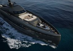 In her final stages of construction and preparing for her debut at the Monaco Yacht Show, the first hull of the Columbus Sport Hybrid series has n. Super Yachts, Jets, Yachting Club, Float Your Boat, Cool Boats, Yacht Design, Boat Design, Its A Mans World, Yacht Boat