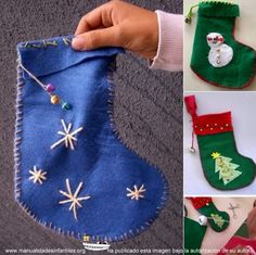 botas de navidad en fieltro: http://www.manualidadesinfantiles.org/botas-de-navidad-en-fieltro/