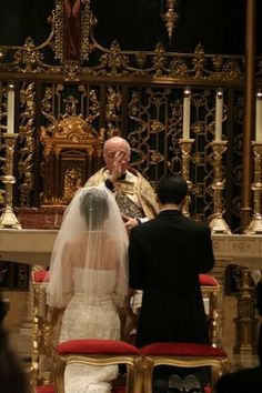 Roman catholic wedding. If I ever get married I want a traditional Roman Catholic wedding :)