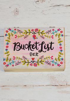bucket list wooden keepsake box
