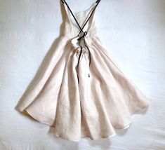 Blush Linen Dress by harriet & daughters on etsy
