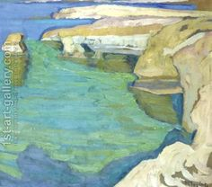 Konstantinos Maleas was one of the most important Post-impressionist Greek painters of the century. Greece Painting, Seascape Paintings, Impressionist Paintings, Post Impressionism, Greek Art, Oil Painting Reproductions, Art Moderne, Love Painting, Art Oil