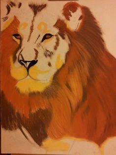 Lion - ça avance... pastels