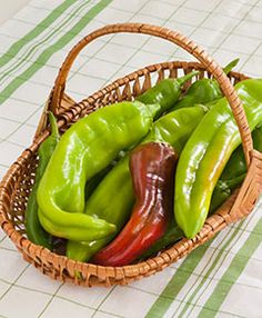 Growing these this year - New Mexico Big Jim chile peppers. They can be 10-12 inches long - giant chile rellenos!