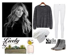 """Blake Lively Shein"" by chicclo on Polyvore featuring Gianvito Rossi, Frame Denim, Laura Ashley, Marc Jacobs, women's clothing, women's fashion, women, female, woman and misses"