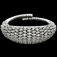 Mattia Cielo - Iguana - Bracelet 750/1000 white gold - white diamonds ct. 18,92