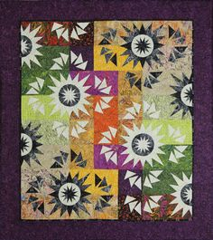 The Reclaimed West - Harvest Moon quilt pattern by Judy Niemeyer for Timeless Treasures Quilting Projects, Quilting Designs, Sewing Projects, Quilting Ideas, Quilting Room, Embroidery Designs, Paper Piecing Patterns, Quilt Patterns, Flying Geese Quilt
