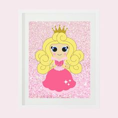 Pink Beauty Princess Print Made to Match by frecklefoxboutique