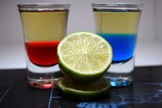 blue & red tequila